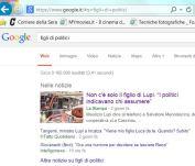Risultato Google figli di politici