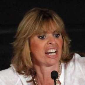 Alessandra Mussolini in una sua tipica espressione