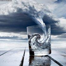 tempesta in un bicchier d'acqua