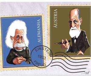 Sigmund Freud e ALbert Einstein