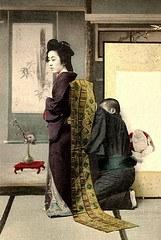 Vestizione di una geisha